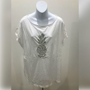 Tommy Bahama White Pineapple Graphic T-Shirt